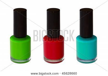 Green Red Blue Nail Polish