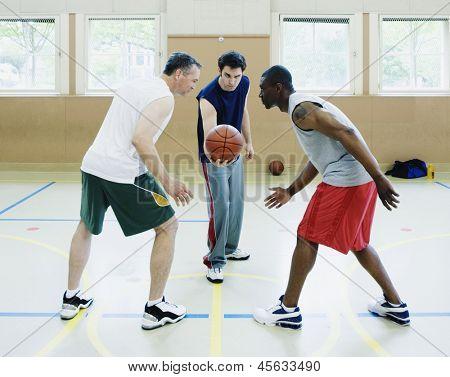 Jump ball in basketball game