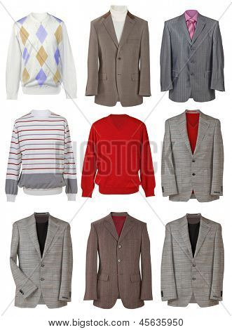 collection of men's jackets