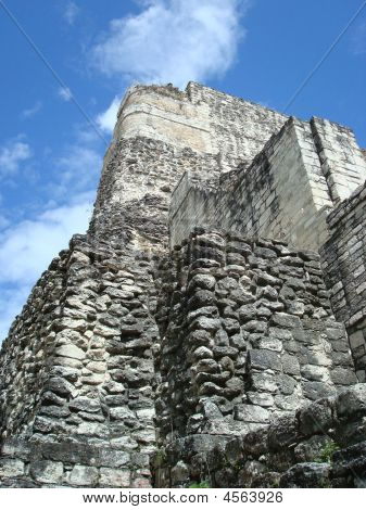 Becan Mayan Crumbling Tower