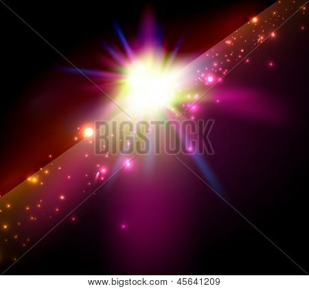 Vector abstract shiny star / space background