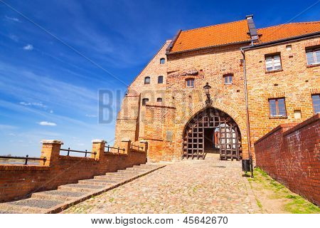Granaries with water gate in Grudziadz, Poland