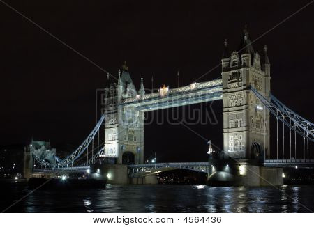 Tower's Bridge At Night