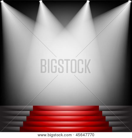 Red Carpet And Stairs