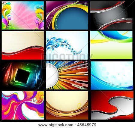 Ilustración de la colección de fondo de vector para el diseño de propósito
