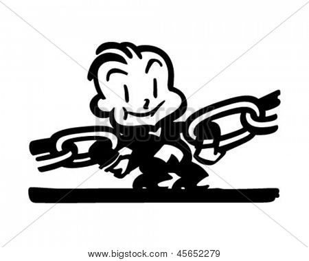 Strongest Link - Retro Clip Art Illustration