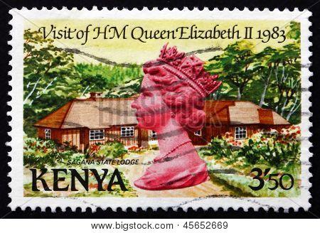 Postage Stamp Kenya 1983 Sagana State Lodge, Royal Visit