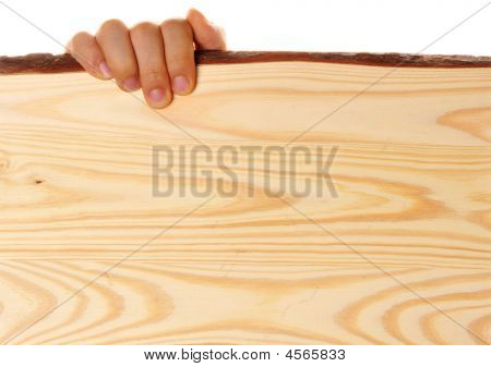 Hand Holdig Wood Board