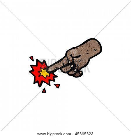 cartoon finger poke