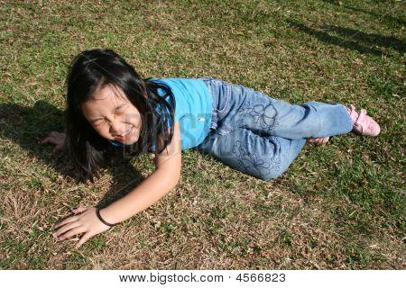 Girl Falling Off
