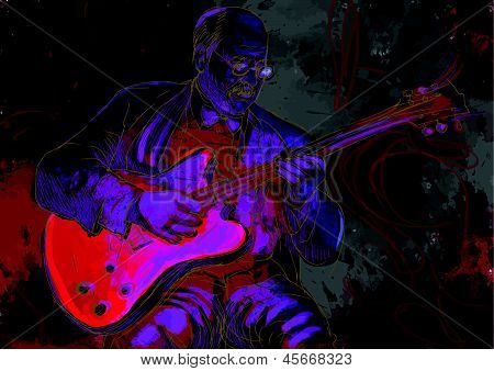guitarist, jazz club