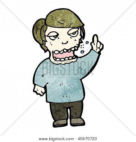 cartoon burping man