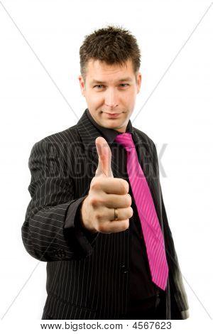 Businessman Is Pleased