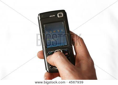 Smartphone na mão