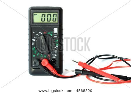 Electronics Tester Tool Isolated On White