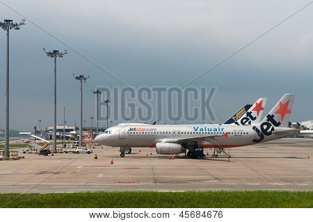 Jetstar Airways Planes In The Airport