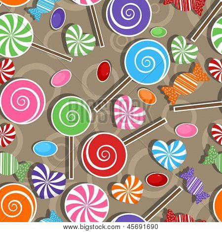 Candy party celebration, seamless pattern background