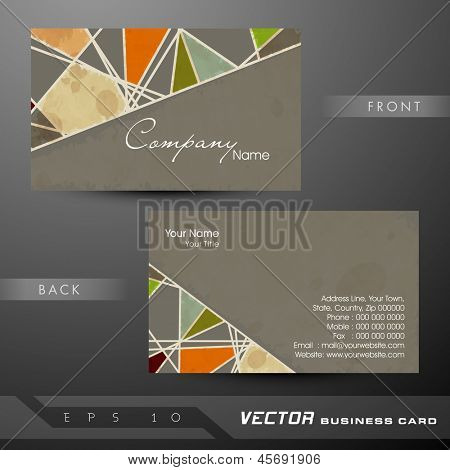 Professional and designer business card template or visiting card set.