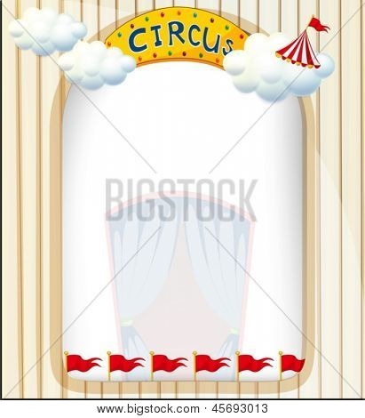 Illustration of a circus entrance