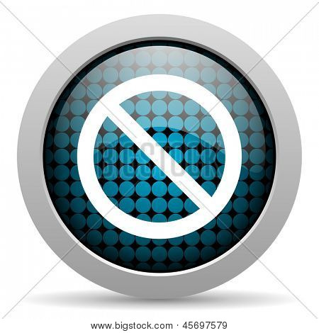 access denied glossy icon