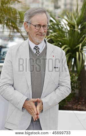 CANNES, FRANCE - MAY 15: Steven Spielberg at the Jury photocall during the 66th Annual Cannes Film Festival at Palais des Festivals on May 15, 2013 in Cannes, France