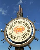 Famous Fisherman's Wharf sign  in San Francisco