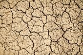 foto of arid  - Dry cracked earth background - JPG
