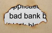 stock photo of non-profit  - Close up of Bad banking concept paper hole - JPG