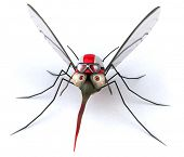 stock photo of mosquito repellent  - Fun mosquito - JPG