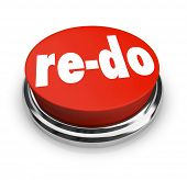 stock photo of overhauling  - A red button with word Re - JPG