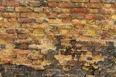 Closeup of old brick wall
