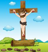 picture of sinner  - Illustration of Jesus Christ at the cross - JPG