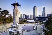 pic of buddhist  - Skyline of downtown Seoul - JPG