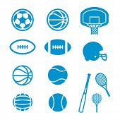 pic of volleyball  - Vector icons Sports Equipment and Balls - JPG