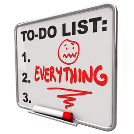 stock photo of objectives  - The word Everything on a To - JPG