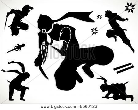 Ninjas de pretos