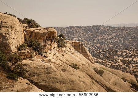 Rock Formation In Dana National Park, Jordan