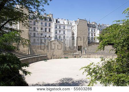 Arena of Lutetia, Paris Roman gallo  (Paris France)