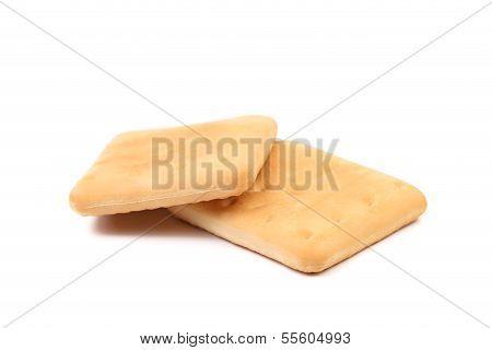 Saltine soda cracker isolated on white
