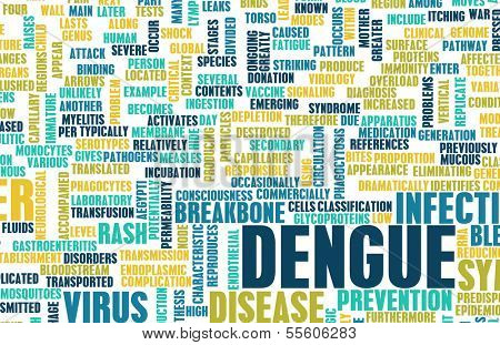 Dengue Fever Concept as a Medical Disease Art