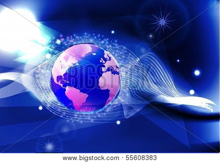 background with globe (neon collection)