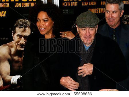 NEW YORK-DEC 16: Model Grace Hightower and Robert DeNiro (R) attend the world premiere of