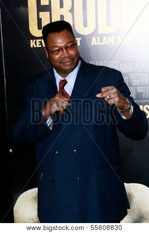 "NEW YORK-DEC 16: Boxer Larry Holmes attends the world premiere of ""Grudge Match"" at the Ziegfeld Theatre on December 16, 2013 in New York City."