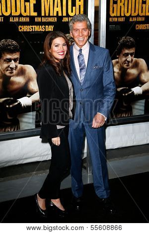 NEW YORK-DEC 16: Announcer Michael Buffer and wife Christine Buffer attend the world premiere of
