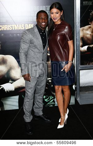 NEW YORK-DEC 16: Actor Kevin Hart and Eniko Parrish attend the world premiere of