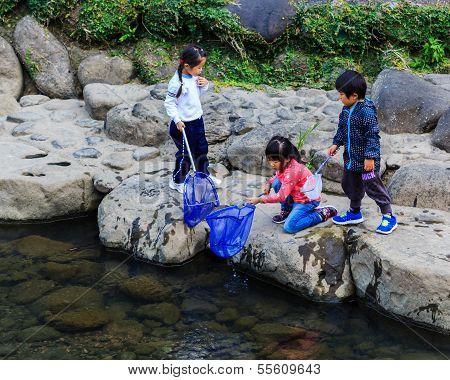 Children's Activity in at Nakashima RiverNagasaki