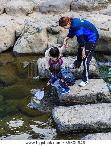 Children's Activity at Nakashima RiverNagasaki