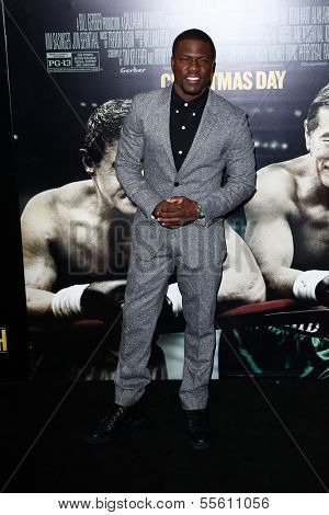 "NEW YORK-DEC 16: Actor Kevin Hart attends the world premiere of ""Grudge Match"" at the Ziegfeld Theatre on December 16, 2013 in New York City."
