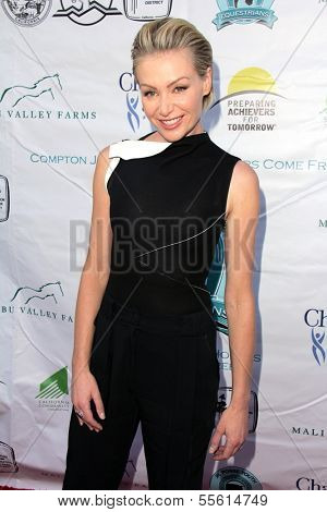 LOS ANGELES - MAY 18:  Portia de Rossi at the 6th Annual Compton Jr. Posse Gala  at Los Angeles Equestrian Center on May 18, 2013 in Los Angeles, CA