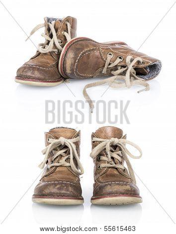 Vintage children's boy shoes
